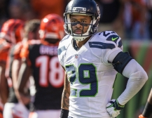 Earl Thomas walks away from the line of scrimmage after Bengals quarterback Andy Dalton rushed the ball into the end zone for a 5-yard touchdown with 5:49 to play. The Seattle Seahawks played the Cincinnati Bengals Sunday, October 11, 2015 at Paul Brown Stadium in Cincinnati, OH.